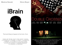 iBrain and Double Crossed posters